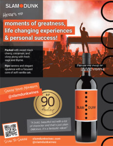 2019 Slam Dunk Wine Flyer/Case Card 1